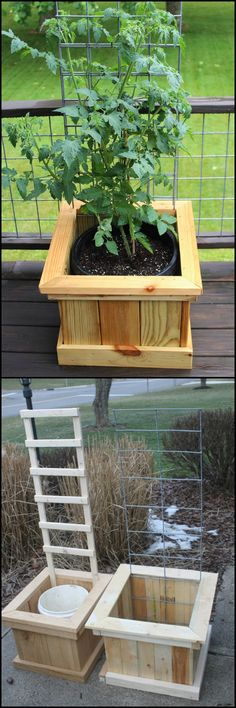 Decorate your yard and grow your favourite vegetable by building a grow box and trellis combo! This idea is great for owners who are living with a limited garden space. http://diyprojects.ideas2live4.com/2016/03/09/build-a-garden-grow-box-and-trellis-combo/ Tomatoes, peppers, cucumbers, zucchini - these are all great vegetables to grow in this DIY planter... What plant would you put in your garden grow box and trellis combo? :)
