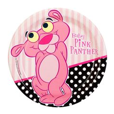 Baby Pink Panther Dessert Plates from BirthdayExpress.com