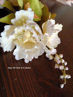 Bouquet de flores de azúcar para boda                                                                                                                                                     Más