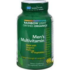 Rainbow Light Certified Organics Mens Multivitamin - 120 Vegetarian Capsules - Rainbow Light Certified Organics Mens Multivitamin Description: Made With Organic Fruits and Vegetables Enhanced Energy, Strength and Longevity Protects the Male Core System Reach a stronger state of health with Certified Organics Mens Multivitamin, a supplement thats rich in customized botanical blends to renew, strengthen, and protect core body systems for lasting performance, vitality and health. This…