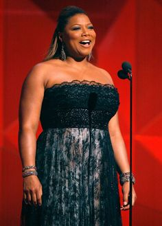 Queen Latifah: Plus-Size Style Icon: Queen Latifah at the 49th Annual Grammy Awards
