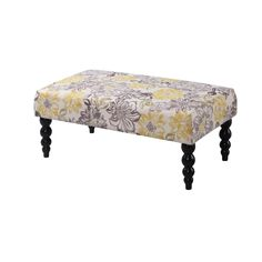 Linon Estelle Chic Floral Upholstered Bench
