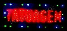 Placas Iluminadas de LED Diversas Tamanho 48x25 110/220V - Infinity Artigos