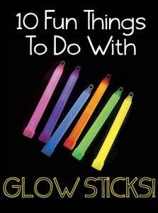 cosas divertidas que hacer con los palillos del resplandor