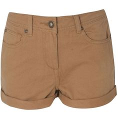 BLONDE & BLONDE Twill Shorts ($13) ❤ liked on Polyvore featuring shorts, bottoms, pants, short, brown, brown shorts, short shorts, twill shorts, brown short shorts and zipper shorts