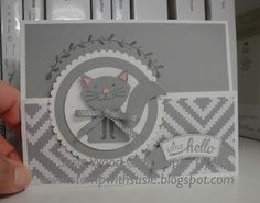 Stampin' Up!- I love my little kitty made with 'Foxy Friends' & the coordinating Fox Builder punch! This is a fun fold card! and like OMG! get some yourself some pawtastic adorable cat apparel!