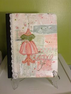 Mixed media on notebook - my beautiful life