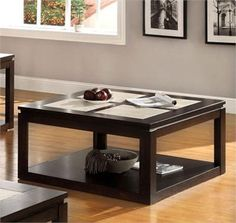benchwright square coffee table | pottery barn | living room