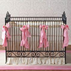 Casablanca Premiere Heirloom Iron Baby Crib:  Slate traditional cribs