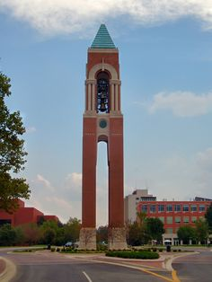 Shafer Tower is a 150 ft. tall free standing bell tower with a carillon and chiming clock located in the campus of Ball State University