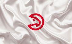 Indir duvar kağıdı Atlanta Hawks, NBA, amblem, basketbol kulübü, ABD, basketbol