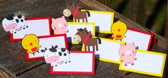 Farm Barn Cow Chick Pig Horse Birthday by Cutiepiepartyshoptoo