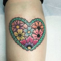 My new tat from Kiki in Castro valley, CA #tattoo #flowers