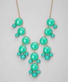 Spring Summer Turquoise Bubble Necklace. Teal Blue Statement Necklace    GlamUp - Jewelry on ArtFire