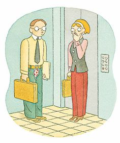 How to survive an awkward elevator ride?