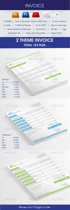 Invoices With MS Word Proposals, Words and Stationery