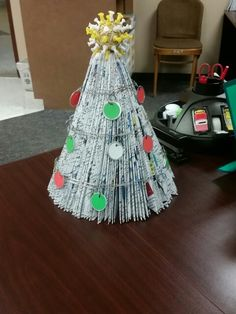 Christmas office decor! Made by Becky Davino of Little Red Wagon Creations.