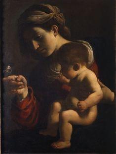 Giovanni Francesco Barbieri, il Guercino (1591-1666),  Madonna del Passero,1615/16, tela, 78,5x58 cm | Pinacoteca, Bologna