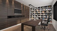 Jasa Desain Interior Perpustakaan Corner Desk, Bookcase, Conference Room, Shelves, Interior, Modern, Furniture, Home Decor, Corner Table