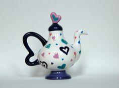 Fantastical Teapot with Fun Hearts  BonCreationz  #thecraftstar