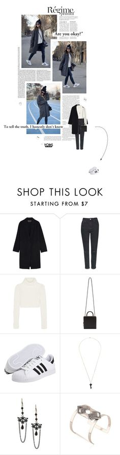 """""""I DON'T KNOW // yoins #11"""" by c-hristinep ❤ liked on Polyvore featuring Anja, Donna Karan, Topshop, Roberto Cavalli, Building Block, adidas, Kristin Hanson, vintage, women's clothing and women's fashion"""