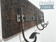Welding, Door Handles, Doors, Crafty, Future, Home Decor, Wall Coat Hooks, Rustic Wood, Rustic Coat Rack