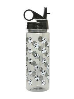 The Nightmare Before Christmas Jack Heads Water Bottle,