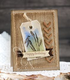 Rustic Birthday by Laurie Schmidlin.  Source:  http://justgivemestamps.typepad.com