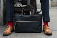 Peper Harow London's Square Miles Socks and Business Folio Bag