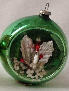 1950s Mercury Glass Diorama Vintage Christmas