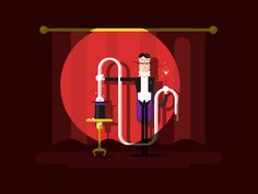 Conjurer+in+a+circus.+Magic+show,+illusionist+with+trick,+entertainment+and+performance,+vector+illustrationVector+files,+fully+editable.