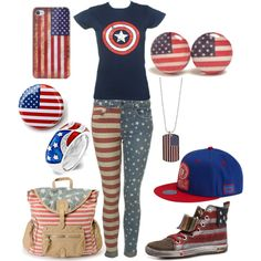 """Tomboy 4th of July"" by olliegmich493 on Polyvore"