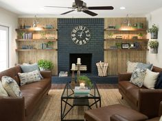 Fixer Upper Season 4 Episode 12 | The Pocket Door House | Chip and Joanna Gaines | Waco, Tx | Living Room | Skinny Lap | Fireplace | Accent Wall ❥