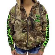 Let's go green! Zipper Hoodie Realtree APG Camo with Green Logo Visit BuckedUpApparel.com  #buckedup #takeherhunting #lovehunting #huntress #girlshunttoo #antlerswithattitude #bucks #bonefire #country #camo #camouflage #hunting #huntin #getbuckedup #spooled #fishing #redneckgirl #redneck #countrygirl #countryboy #countrylife #countrymusic #stpatricksday #redneckgirl #realtree