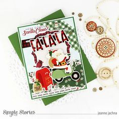 Spreadin' Good Cheer! by Jeanne Jachna – Simple Stories Homemade Christmas Cards, Good Cheer, Jingle All The Way, Simple Stories, Very Merry Christmas, Cards For Friends, Poinsettia, Favorite Holiday, Pattern Paper