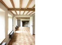 Stunning - Cotswolds Renovation - Feilden Fowles Architects        Contemporary  Architecture  Design  Exposed Beams  Fireplace  Radiators  Farm   House  Greenbelt  Stone  Parquet  Countryside  Extension  UK  England  Rural