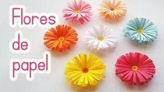 Manualidades: FLORES de PAPEL (Margaritas) Fácil - Innova Manualidades - YouTube