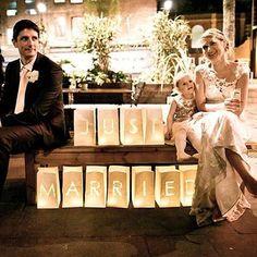 Just Married Wedding Sign Paper Lanterns