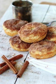 French Breakfast Donuts : Baked