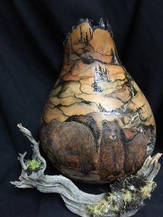 """*Gourd Art - """"Trial & Error"""" by Janice Lyon"""