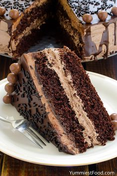 The BEST Chocolate Cake - on the Plate