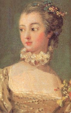 Madame de Pompadour The chief mistress of Louis XV. She was given a title and presented to court. She was not his mistress after several years but kept her position by providing him with mistresses to sustain him and she entertained and played a major role in the politics, style and cultural support of the Louis XV's reign during her life as mistress. She died young at forty two of tuberculosis.