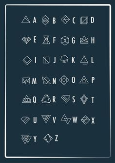 A geometric alphabet – PXL MAD) Source by kerrielegend Alphabet Code, Alphabet Symbols, Font Alphabet, Ancient Alphabets, Ancient Symbols, Alphabet Design, Typography Fonts, Hand Lettering, Calligraphy Fonts