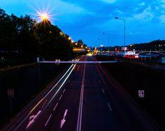 Prague, Motorway At Night Film Studies, Prague, Night