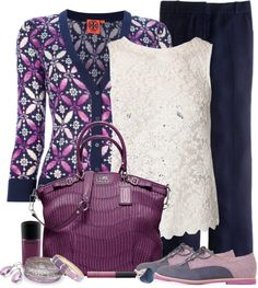 """purple & blue"" by livewithgrace ❤ liked on Polyvore"