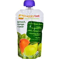 Happy Baby HappyTot Organic Superfoods Spinach Mango and Pear  422 oz  Case of 16 *** You can find out more details at the link of the image.
