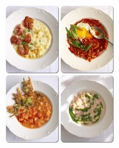Négy tányér téli főzelék Cheeseburger Chowder, Mashed Potatoes, Soup, Ethnic Recipes, Breakfast, Whipped Potatoes, Morning Coffee, Smash Potatoes, Soups
