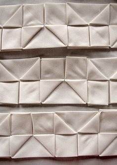 Fabric Manipulation - creative pleating for pattern & texture; sewing idea; origami textiles design // Ruth Singer