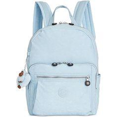 Kipling Bern Backpack (2,050 MXN) ❤ liked on Polyvore featuring bags, backpacks, serenity, padded backpack, kipling bags, kipling backpack, strap bag and double zip bag