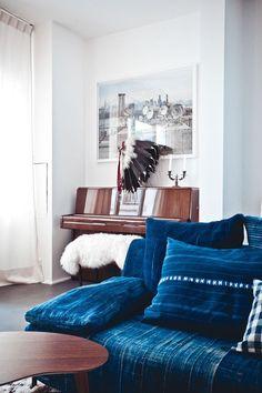 Decor Inspiration: Denim & Indigo Blue. Decoration Trends 2016